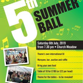 Summer Ball 2019 – get involved NOW!