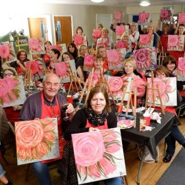 HOWZ-ART! Join our fundraising Brush Party!
