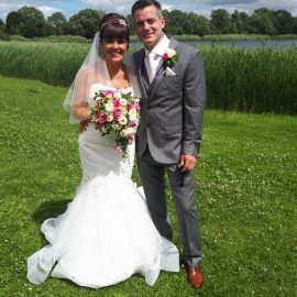 Groundsman Max ties the knot