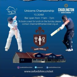 Oxfordshire v Cheshire – coming to Thame soon!