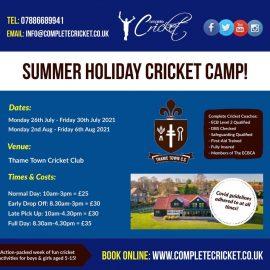 Summer Holiday Cricket Camp 2021!